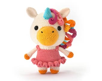 Bella the unicorn Amigurumi PDF crochet pattern