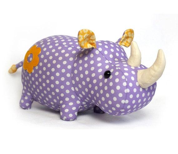 Rhino stuffed animal toy sewing pattern tutorial rhinoceros   Etsy