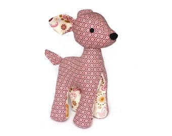 Cute Deer sewing pattern, plush toy pattern PDF