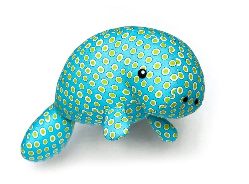 Manatee sea creature sewing pattern PDF  plush toy animal image 0