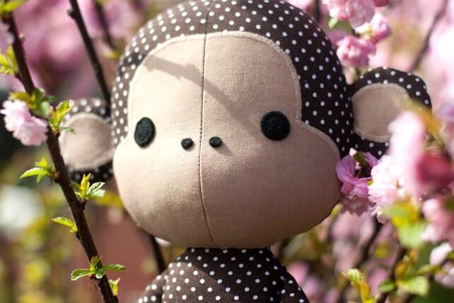Süße Affe Puppe nähanleitung Schnittmuster nähen PDF | Etsy