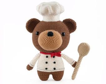 Björn the Cooking Bear Chef Amigurumi pattern PDF Crochet