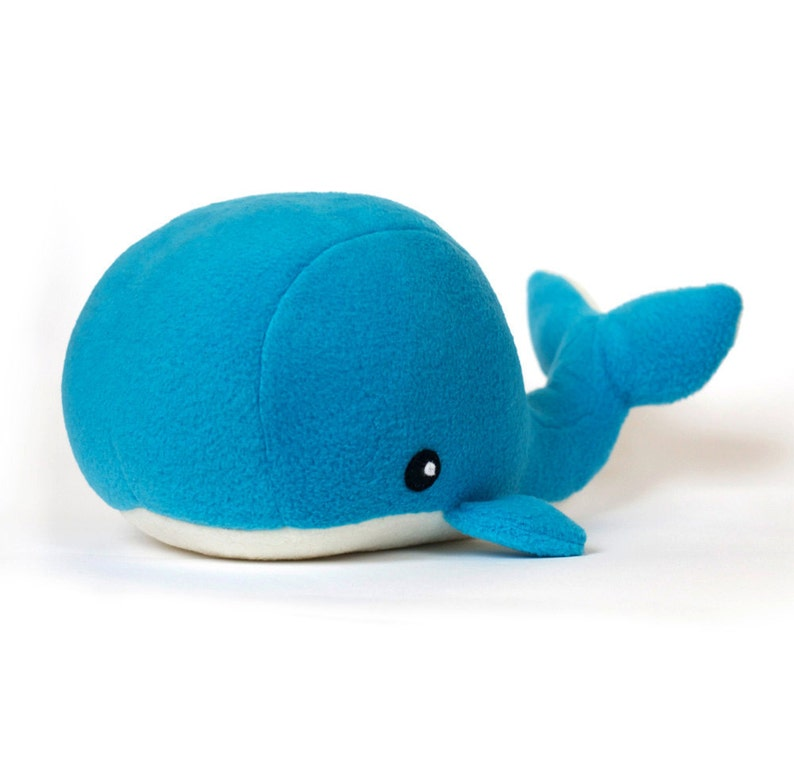 PDF sewing pattern Whale plush toy softie image 0