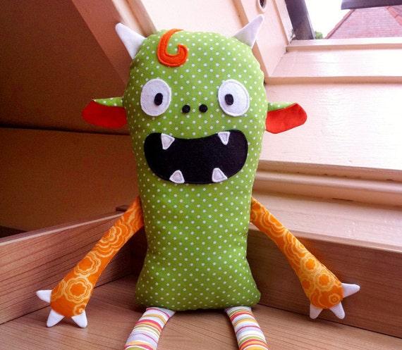 Monster Puppe Schnittmuster nähanleitung vorlage PDF   Etsy