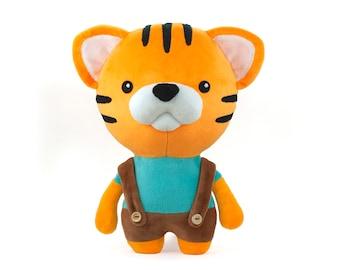 Jimmy the Tiger Sewing Pattern PDF - sew a cute stuffed soft toy animal