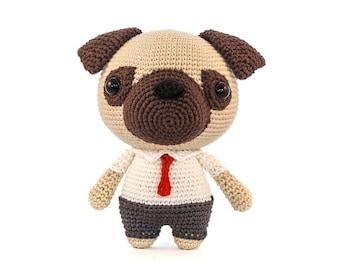 Mr Pug Amigurumi dog Crochet Pattern PDF