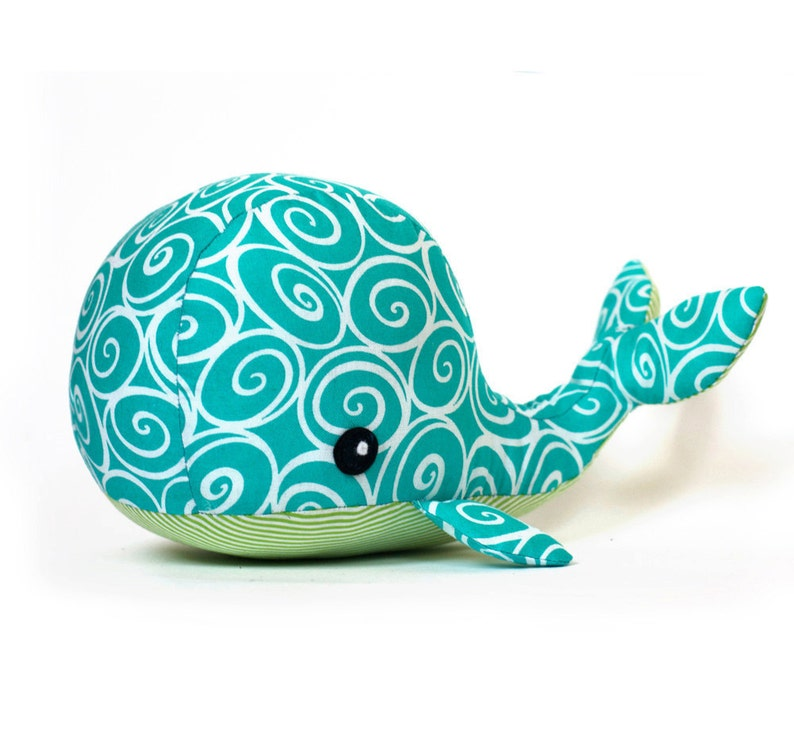 Sewing pattern Whale plush PDF image 0