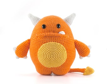 Mr . Orange Monster Amigurumi crochet pattern PDF