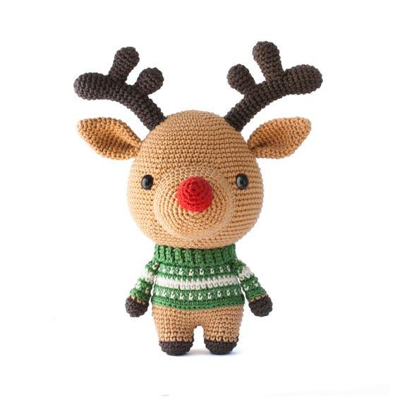 Rudolph the Reindeer crochet pattern pdf - Amigurumi