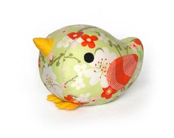 Bird sewing pattern PDF - Sew a cute plush toy