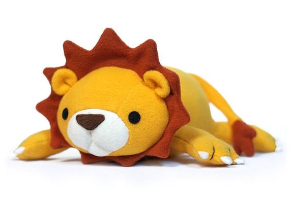 Lucky Lion Stuffed Animal Pattern Pdf Sewing Pattern Plush Etsy