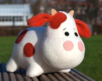 Stuffed Cow sewing pattern sew a cute toy - pdf