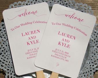 Wedding Ceremony Fan - Wedding Fans - Assembled Wedding Fans - Personalized Wedding Fans - Wedding Hand Fans - Fans - Paper Fans