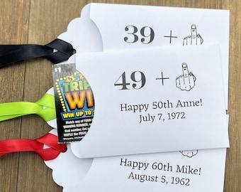 Adult Birthday - Adult Birthday Favor - Funny Birthday Favor - Personalized Birthday Favors - Lottery Ticket Birthday Favors - Fun Favors