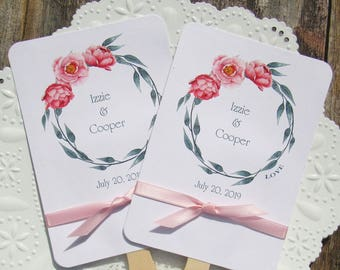 Wedding Fans   Pink Wedding Fans   Wedding Hand Fans   Personalized Fans   Assembled Favor Fans   Wedding Favor Fans   Summer Wedding Fans