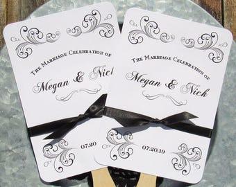 Wedding  Favor Fans - Wedding Fans - Unique Wedding Fans - Formal Wedding Fans - Hand Fans - Wedding Paper Fans - Ceremony Fans - Fans