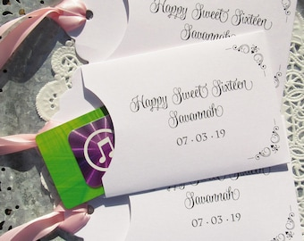 Sweet Sixteen Party   Sweet 16 Favors   Sweet 16 Party Favors   Sweet Sixteen    Sweet 16 Party   Sweet 16 Favor   Itunes Card Holder