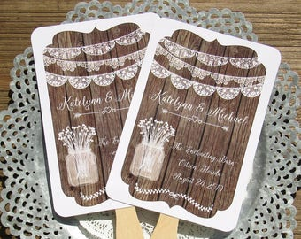Wedding Fans Rustic | Wedding Favors Rustic | Rustic Wedding Fans  | Personalized Hand Fans |  Country Wedding Fans | Wedding Rustic | Fans