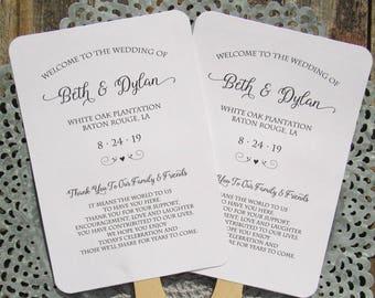 Wedding Fans - Favor Fans -  Guest Fans - Personalized Hand Fans - Wedding Favors - Fans Wedding - Wedding Ceremony Fans - Wedding Paper Fan