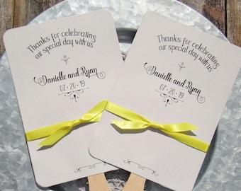 Unique Wedding Fans - Wedding Hand Fans - Summer Wedding Fans - Wedding Fans Grey - Wedding Fans - Personalized Wedding Fans - Ceremony Fans