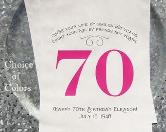 70th Birthday Favor Bags