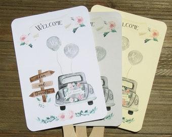 BoHo Wedding Fans - Rustic Wedding Fans - Assembled Fans - Just Married Fans - Wedding Fan Favors - Wedding Guest Favors - Summer Weddings
