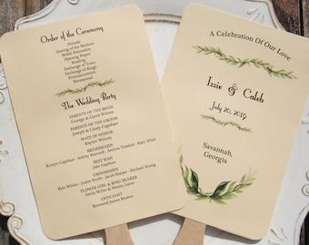 Wedding Program Fan   Wedding Programs   Wedding Hand Fans   Personalized Hand Fans   Wedding  Fans - Wedding Ceremony Programs