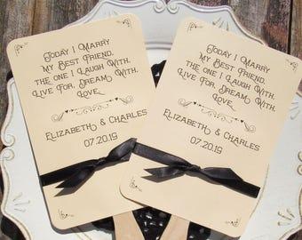 Wedding Favor Fans - Wedding Fans - Wedding Paddle Fans - Wedding Ceremony Fans - Wedding Favor Fan - Outdoor Wedding Fans - Hand Fans
