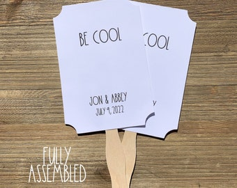 Rae Dunn Inspired Fans - Wedding Fans - Event Fans - Party Fans - Personalized Fans - Outdoor Wedding - Summer Wedding Favors - Hand Fans