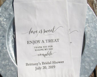 a42d9ec2bb3e Personalized Bridal Shower Favor Bags for Bridal Shower Favors Bridal  Shower Candy Bags Bridal Shower Favor Wedding Shower Favor