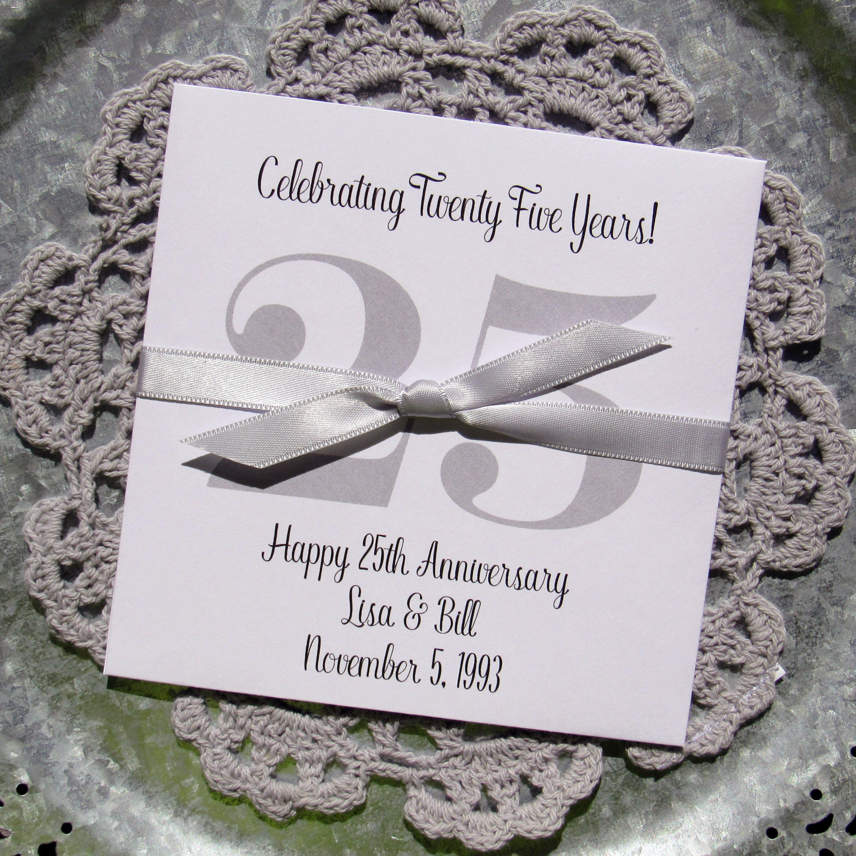 Silver Anniversary Favors Anniversary Party Favors Favors