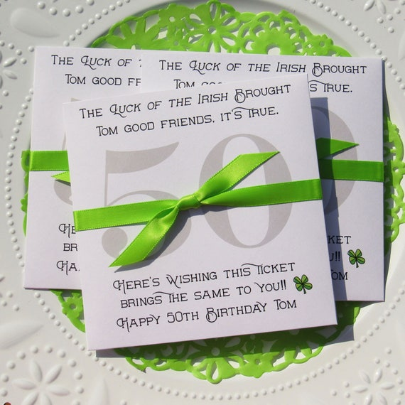 Irish Birthday Favors Adult 50th Party