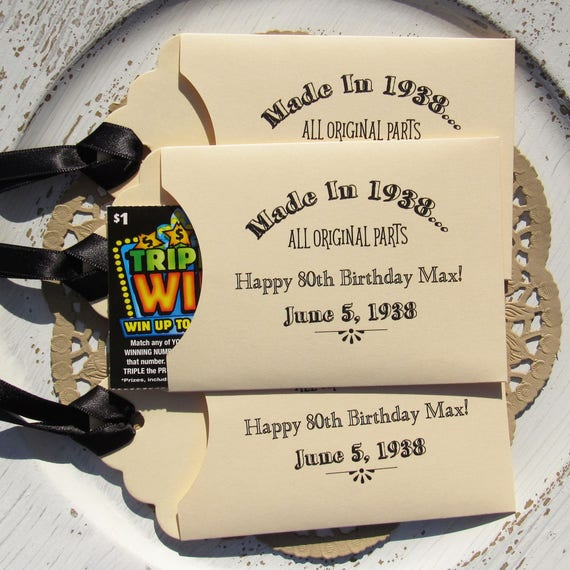Adult Birthday Favors Party Favor 80th