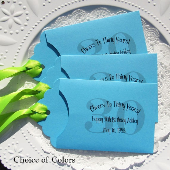 30th Birthday Party Favors For Adult