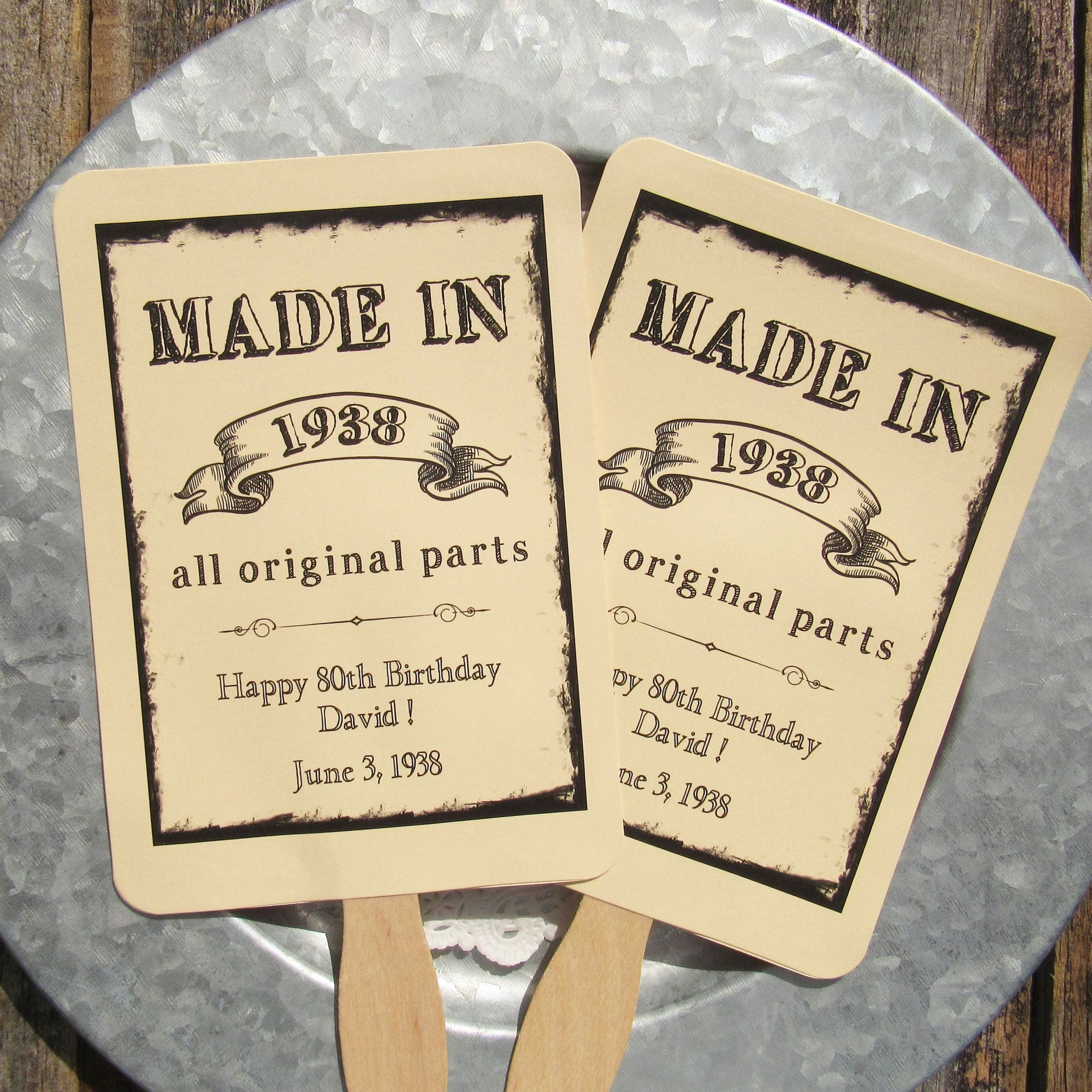 Adult Birthday Favor 80th Favors Party