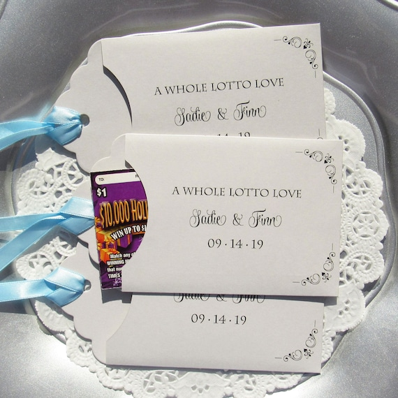 Wedding Guest Favors Wedding Lottery Ticket Wedding Favors Etsy