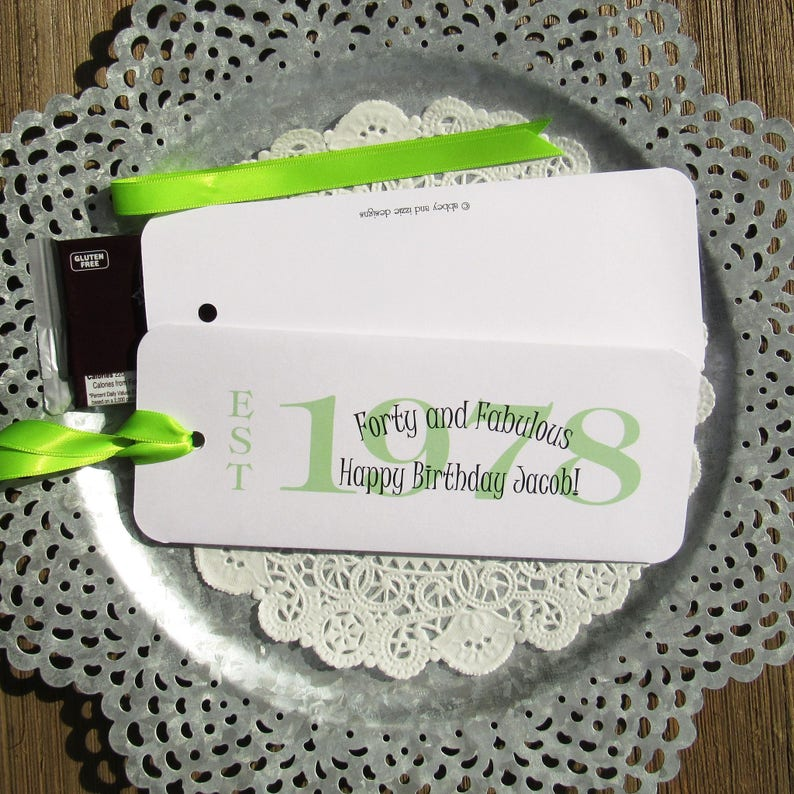 40th Party Favors Adult Birthday