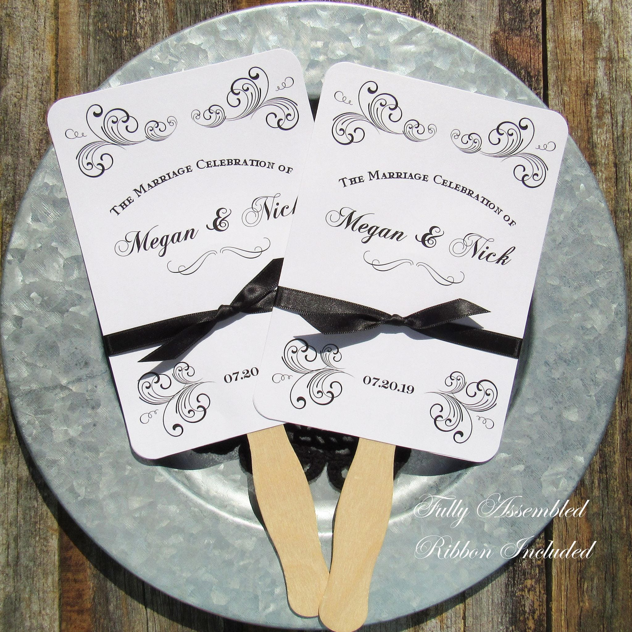 Wedding Favor Fans Wedding Fans Unique Wedding Fans