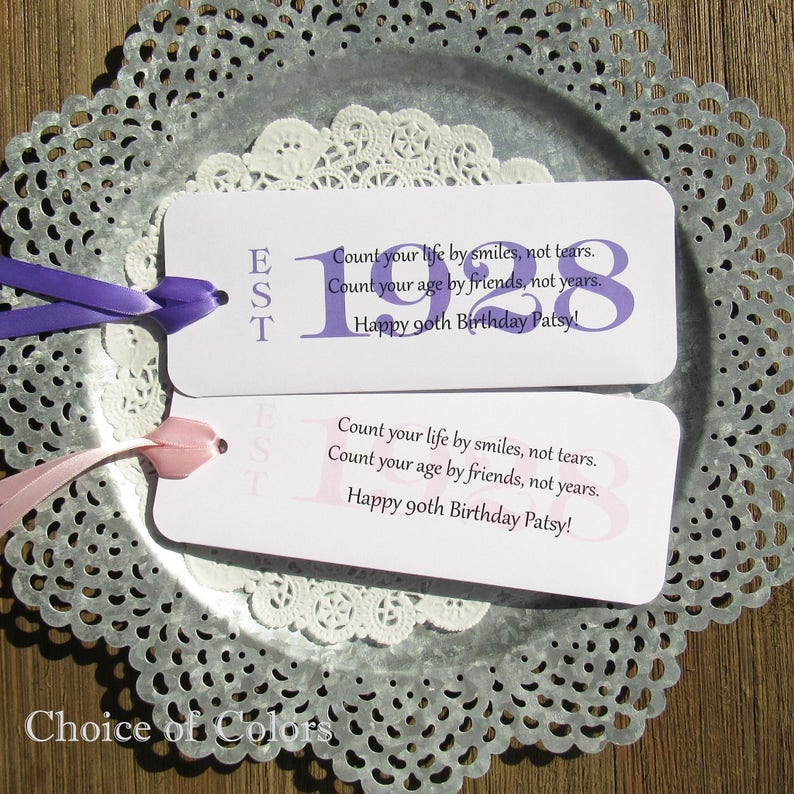 90th Birthday Party Favors For A