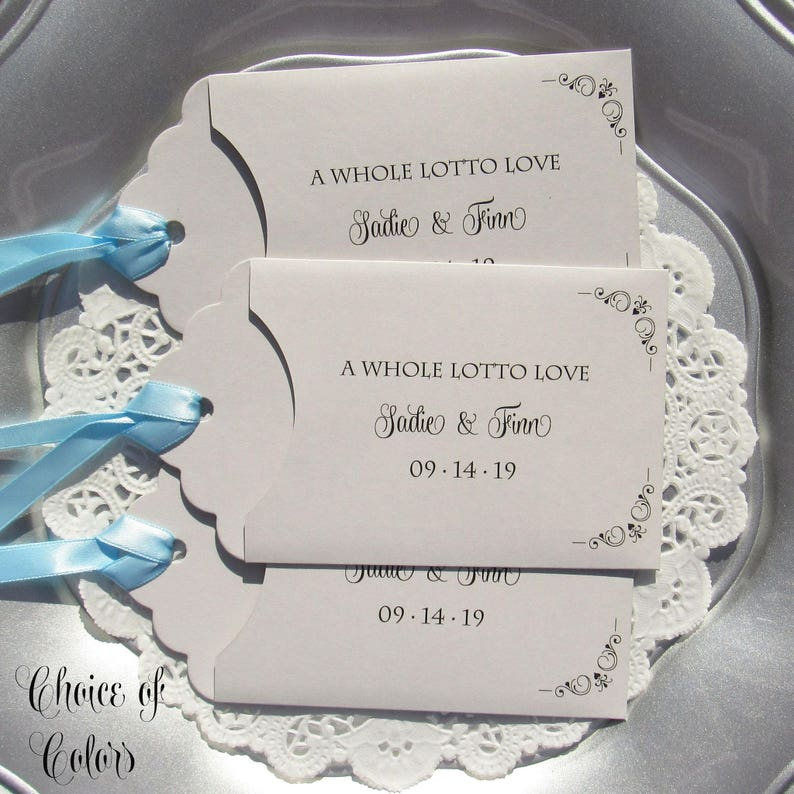 Wedding Souvenirs For Guests: Wedding Guest Favors Wedding Lottery Ticket Wedding Favors