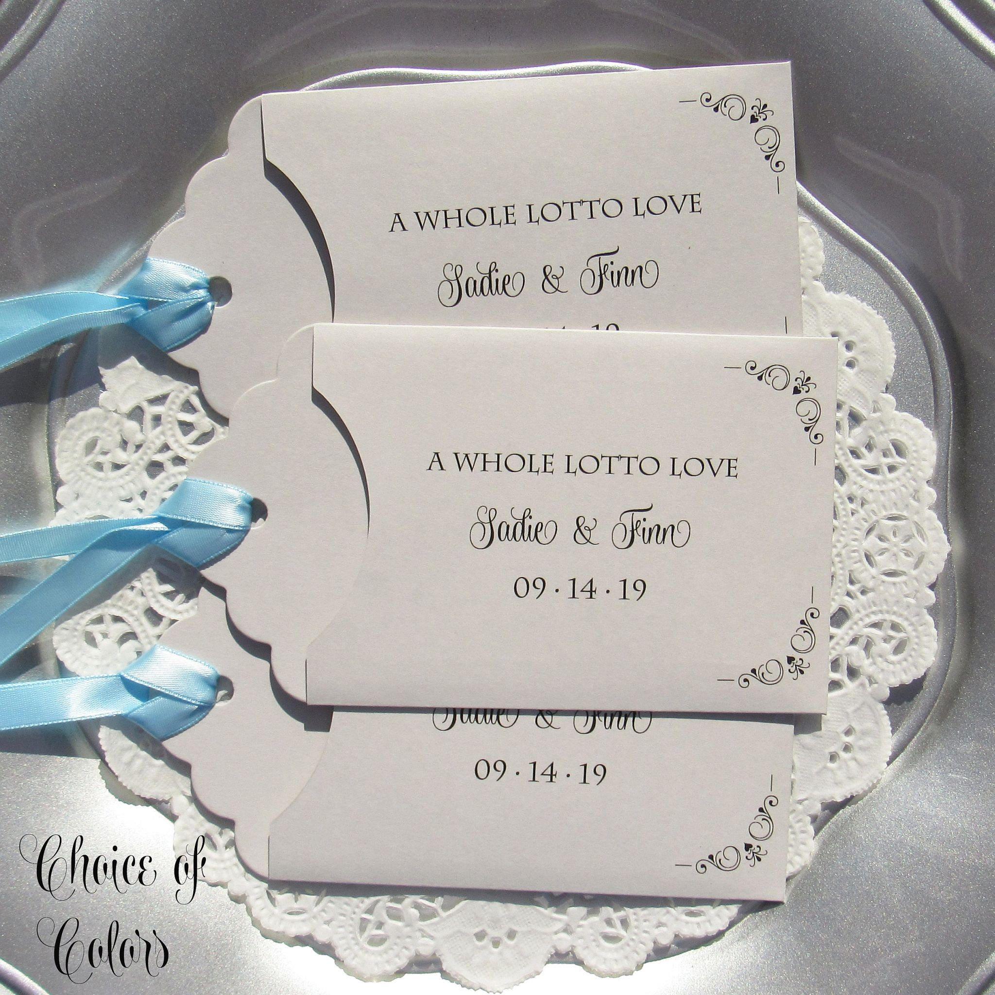 Wedding Guest Favors Wedding Lottery Ticket Wedding Favors