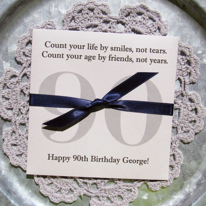 Party Favors For A 90th Birthday Adult