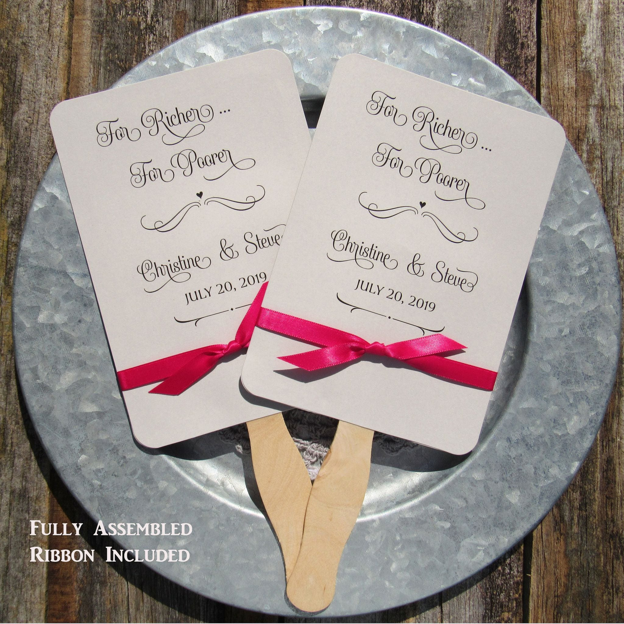 Wedding Fans Custom Wedding Fans Wedding Favor Fans