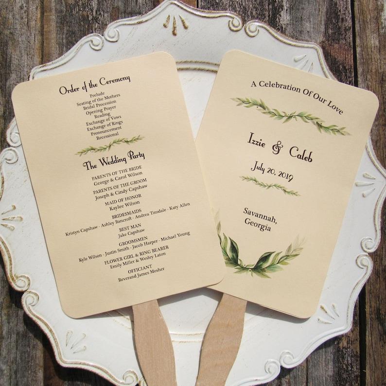 Wedding Program Fan Wedding Programs Wedding Hand Fans | Etsy