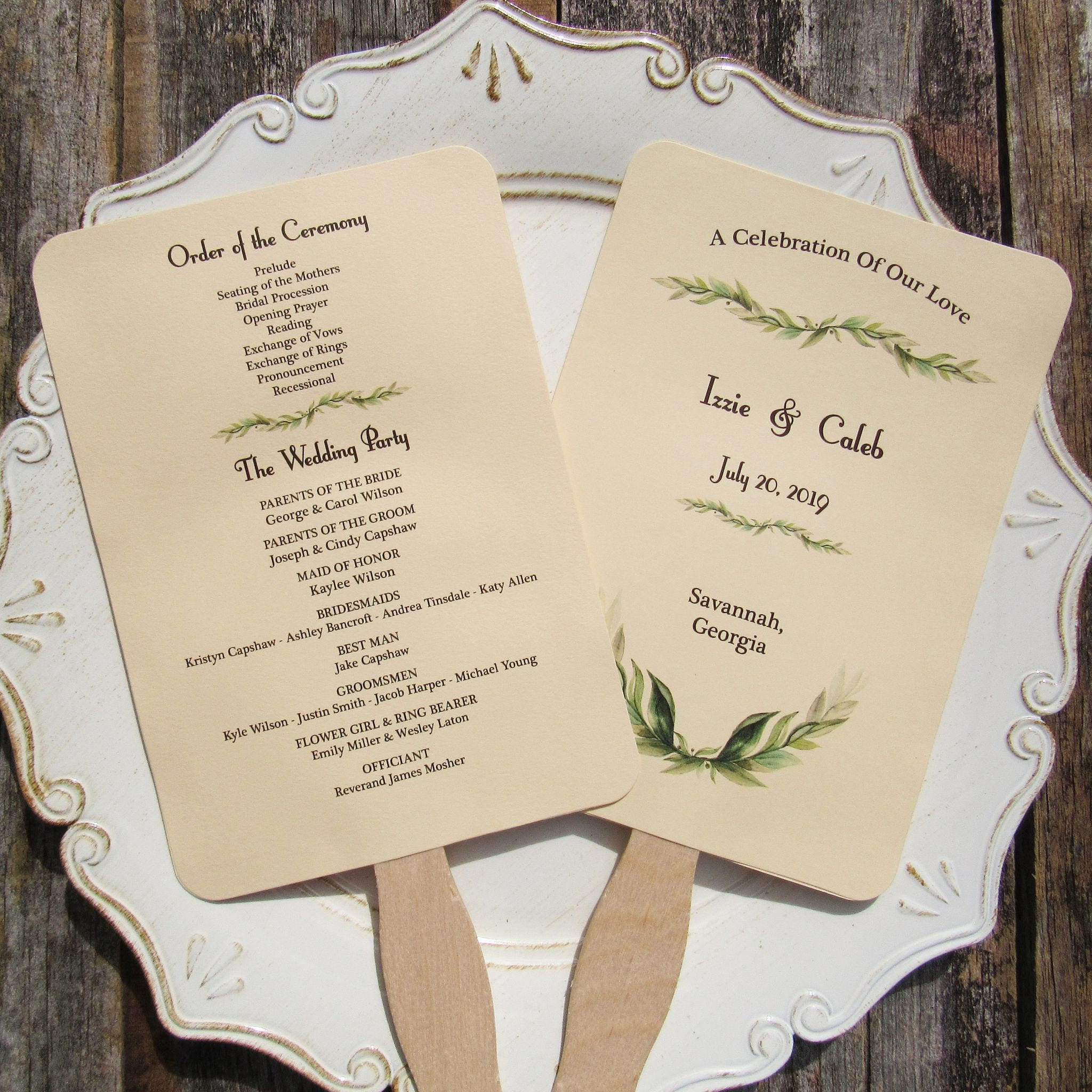 Wedding Program Fan Wedding Programs Wedding Hand Fans