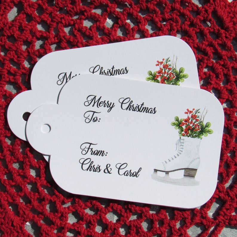 ef7f4afab7c50 Personalized Christmas Gift Tags can also be used for Christmas Favor Tags.