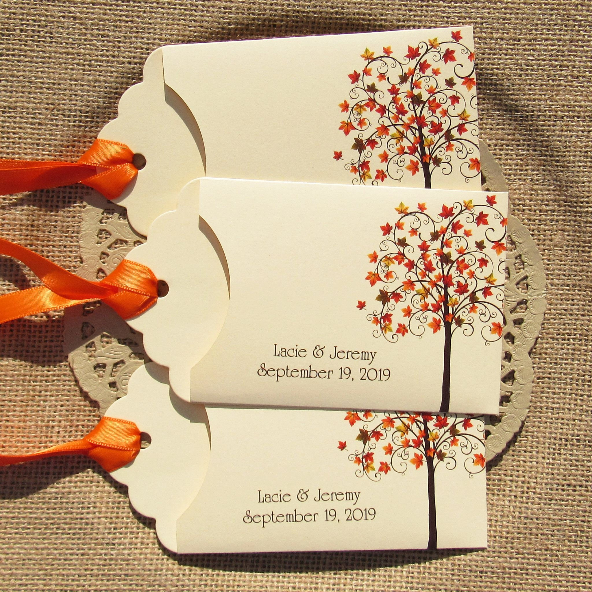 Fall Wedding Favors Wedding Favors Fall Lottery Ticket