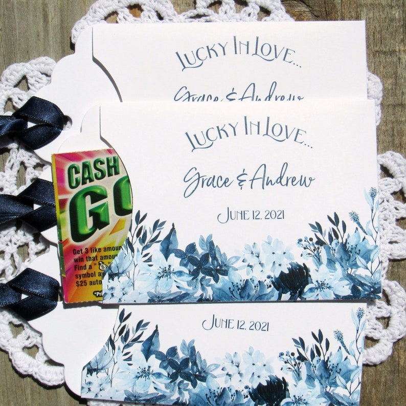Navy Blue Wedding Wedding Lotto Favors Navy Blue Wedding Favors Blue Wedding Favors Wedding lottery Favors Lottery Ticket Favors
