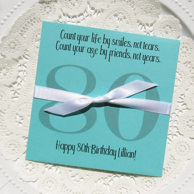 80th Birthday Favors Adult Lottery