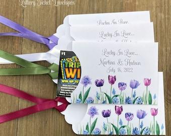 Spring Wedding Favors - Tulip Wedding Favors - Lavender Wedding Favors - Lottery Wedding Favors - Personalized Wedding Favors